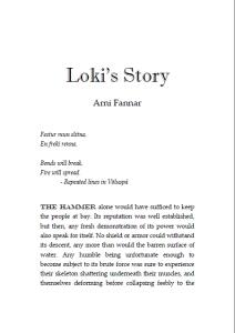 Loki's Story cover